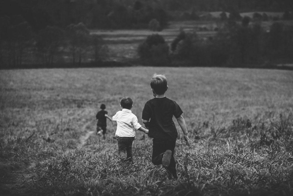 kinder am laufen outdoor natur park