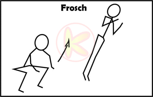 Frosch-Animal Move Kinder