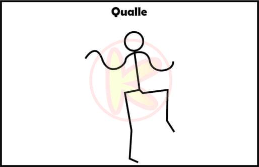 Qualle-Animal Move Kinder